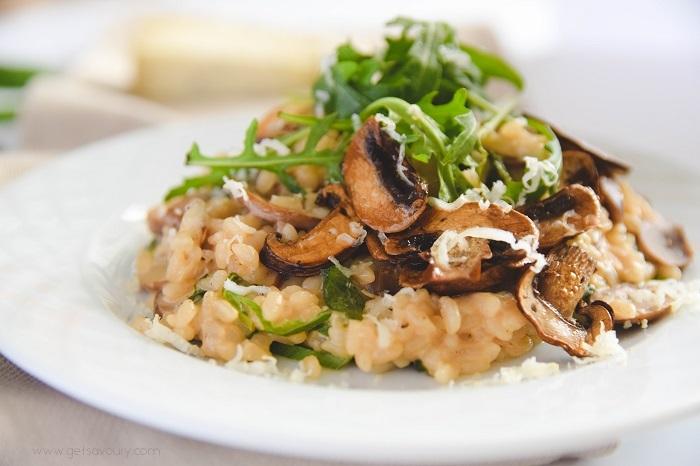Easy Mushroom Risotto Get Savoury