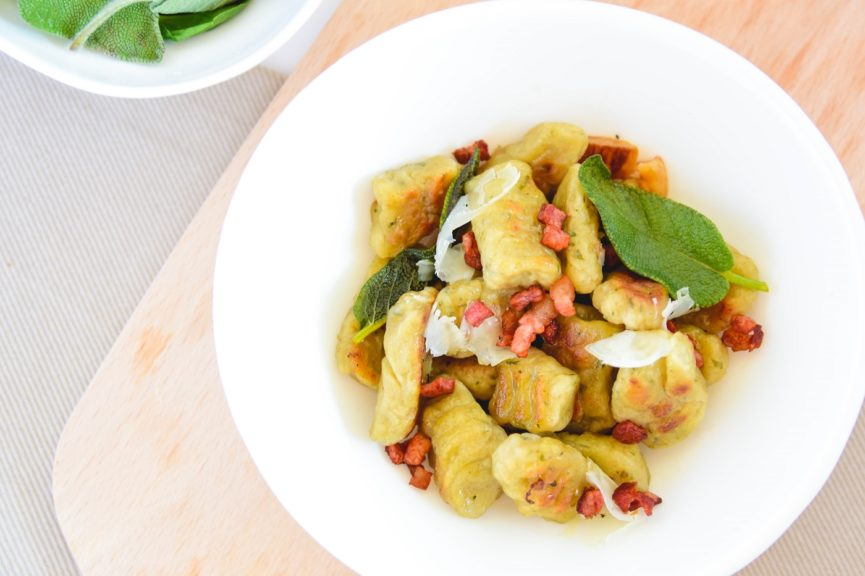easy sage butter gnocchi - basic lunch recipe