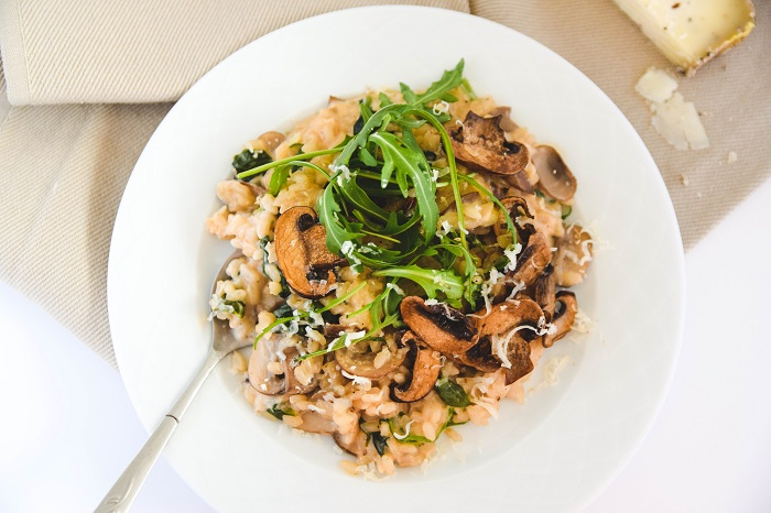easy mushroom risotto