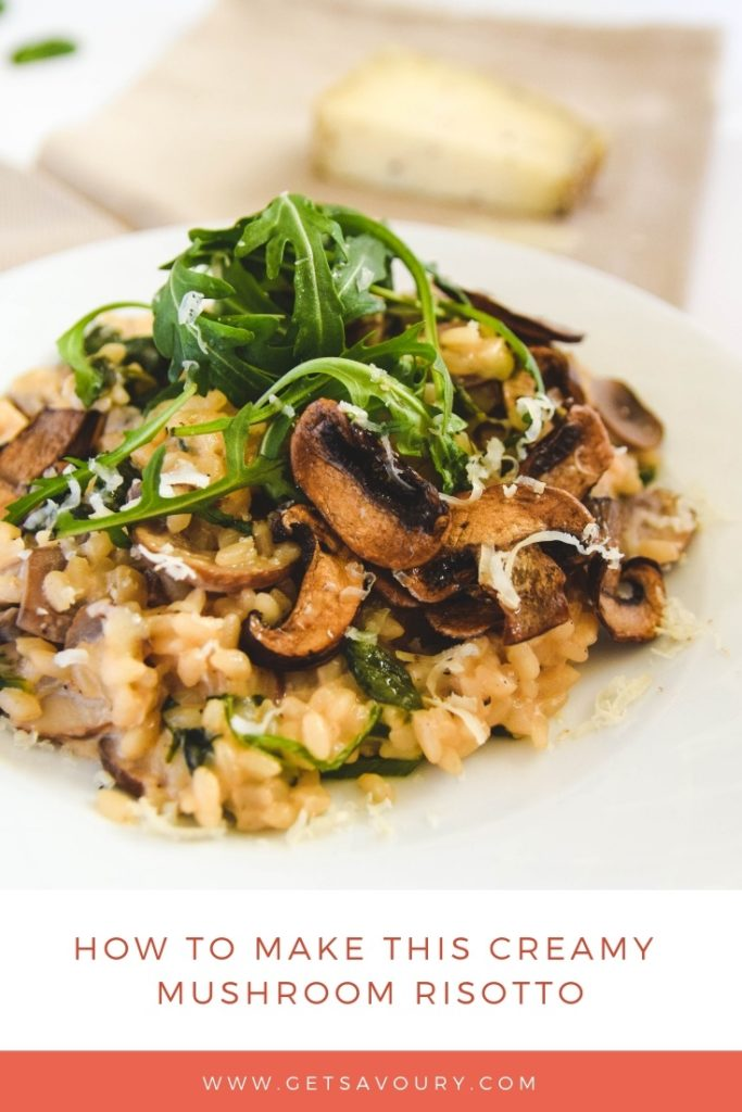 how to make this easy mushroom risotto