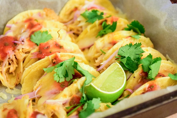 Oven Baked Mini Chicken Tacos