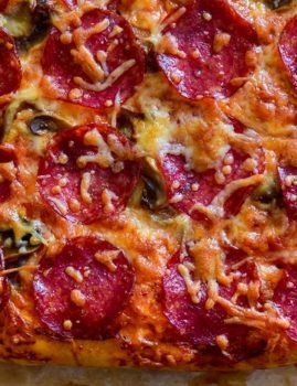 Pepperoni and Cheese Pan Pizza