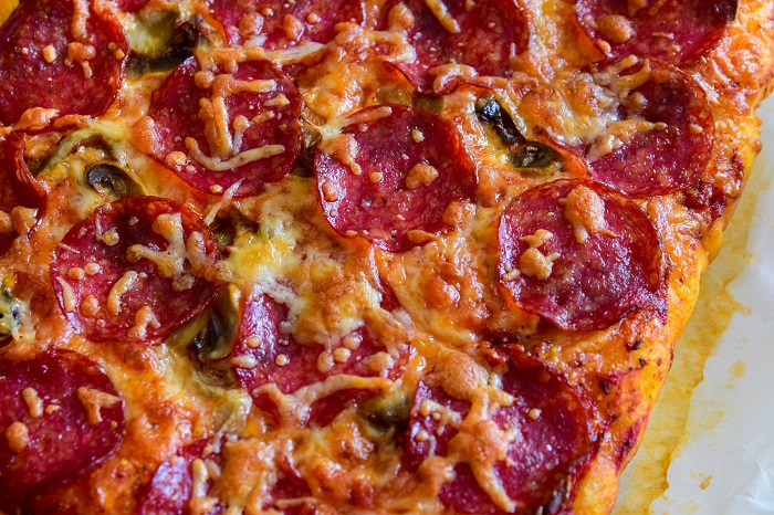 This pepperoni pan pizza recipe is easier than you think and adds lots of fun to dinner nights with family. Nothing beats that. (not to mention the leftovers!)