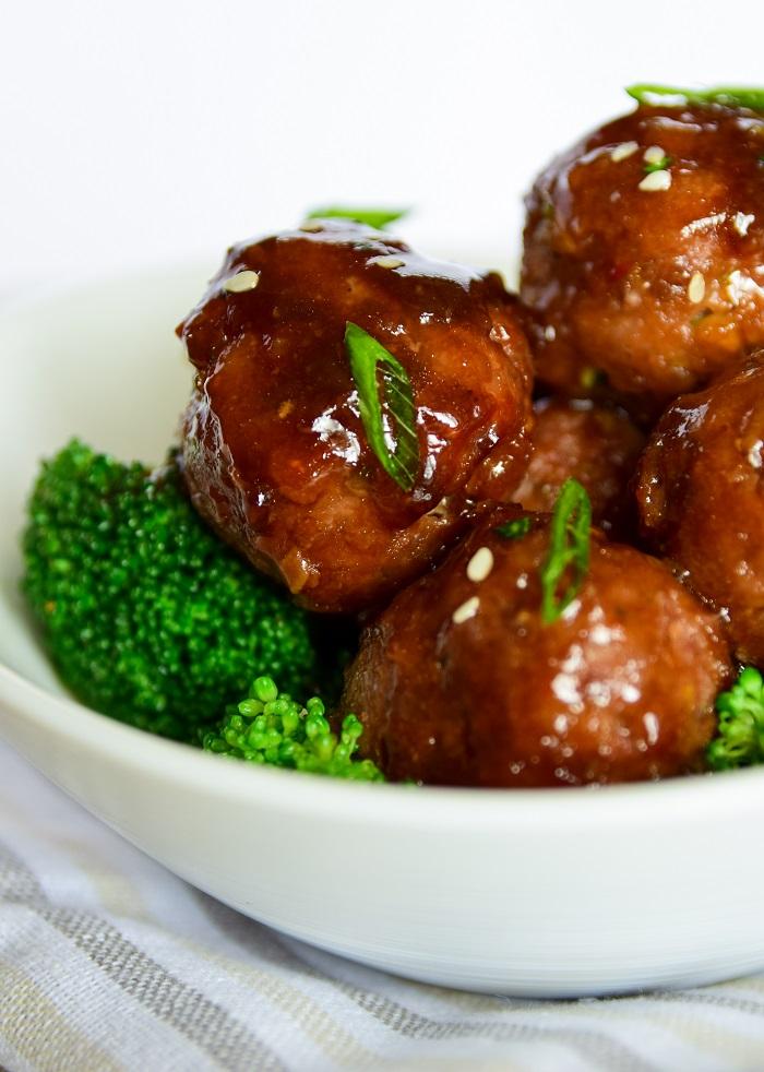 Hot Sticky Teriyaki Meatballs (oven baked)